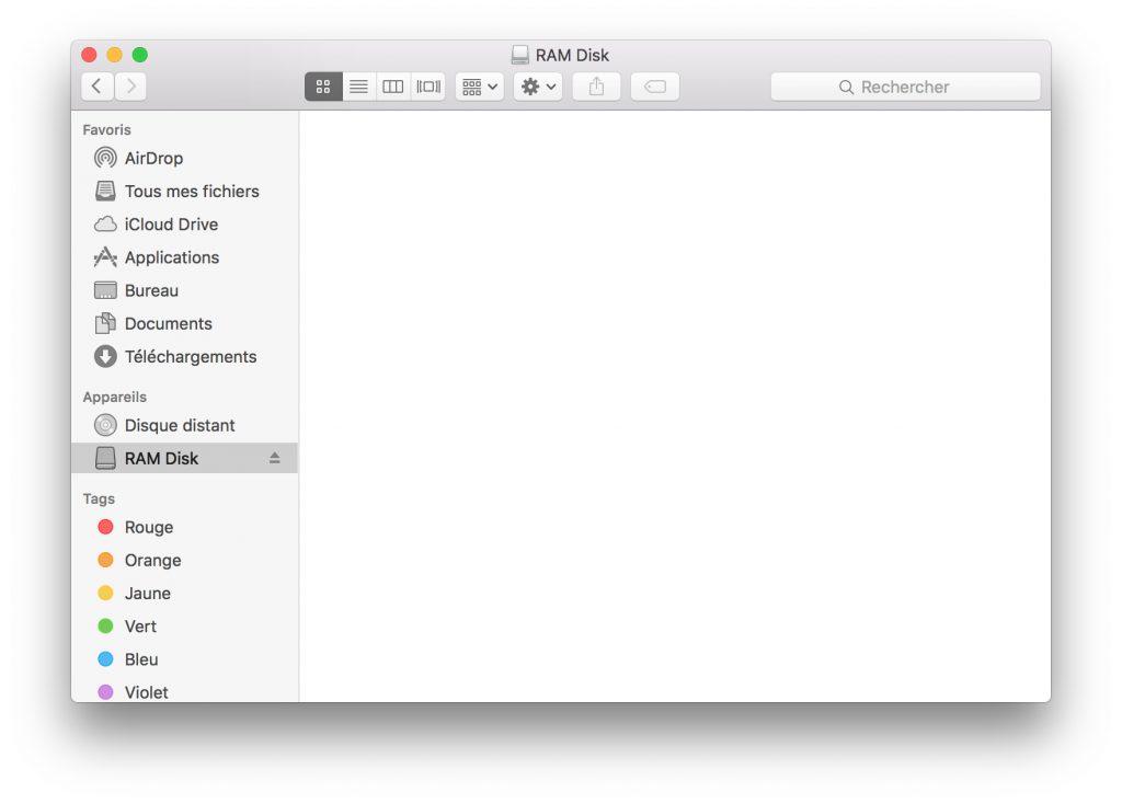 RAM Disk sur mac finder