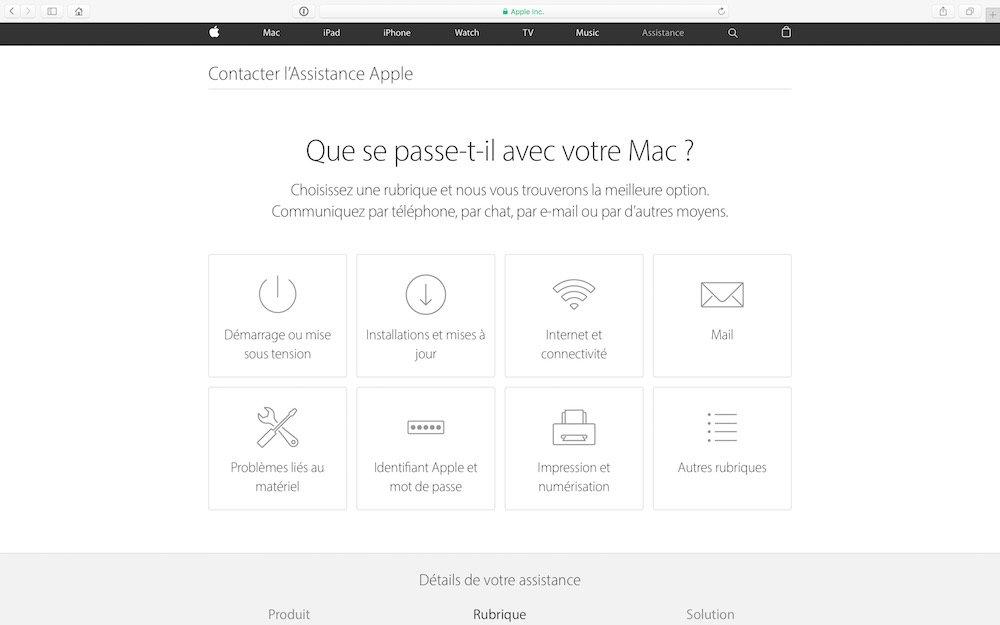 Verifier la garantie de son MacBook et ensuite