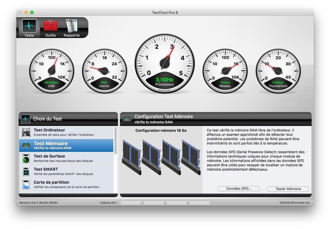 Identifier le fabricant de RAM de son Mac techtool pro 9