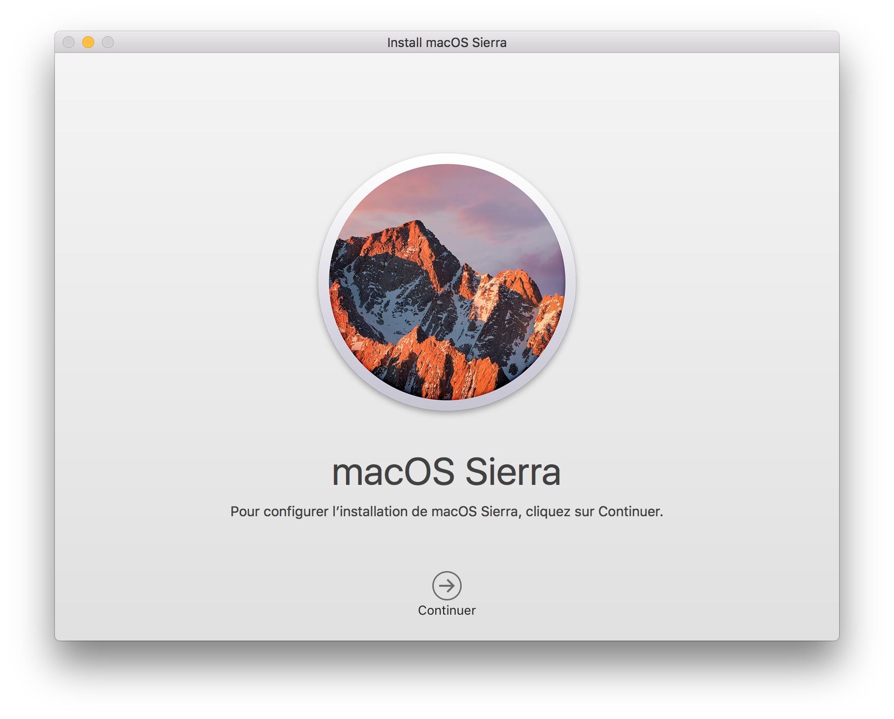 installer macOS Sierra sur Mac mise a jour
