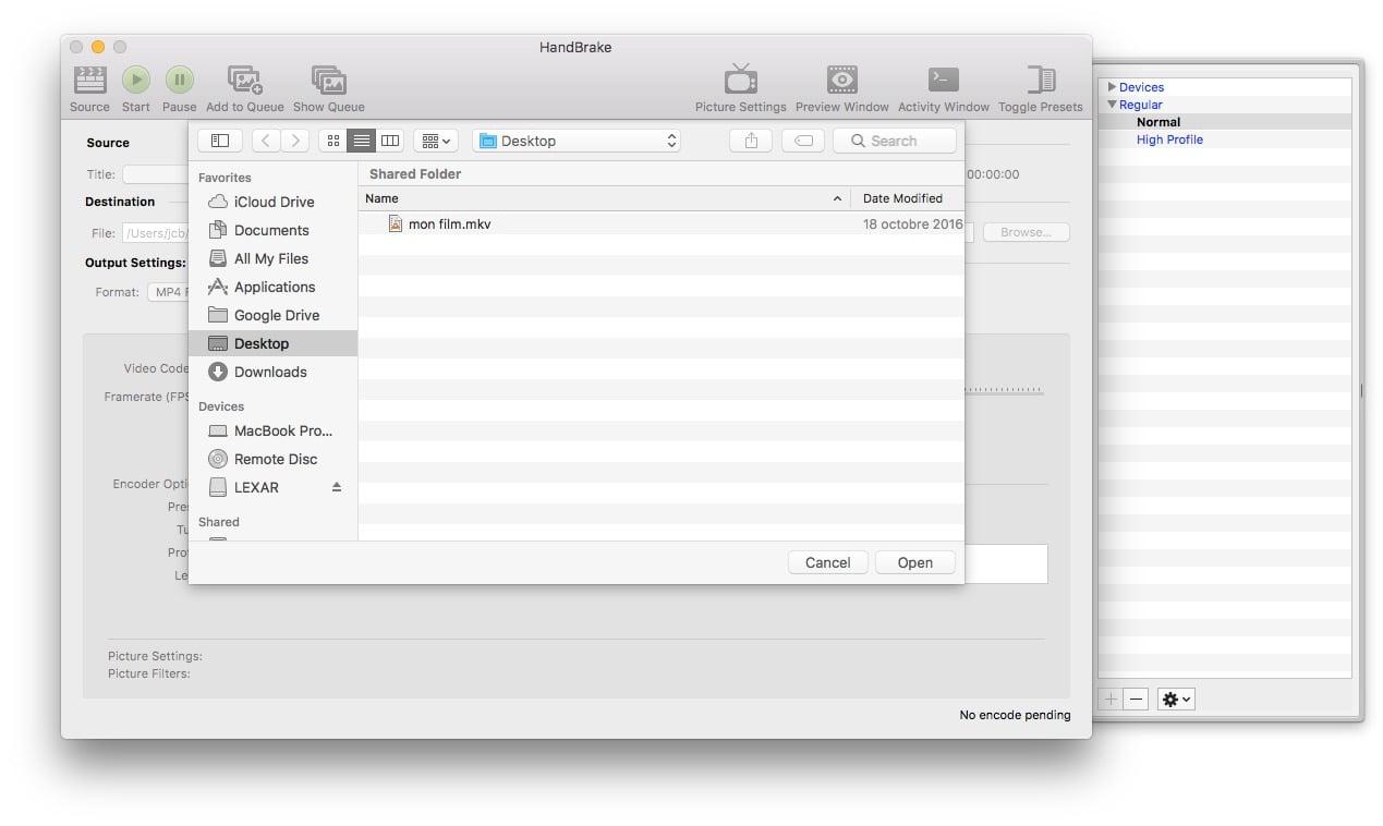 Convertir une vidéo sur macOS Sierra (10 12) : 2 méthodes