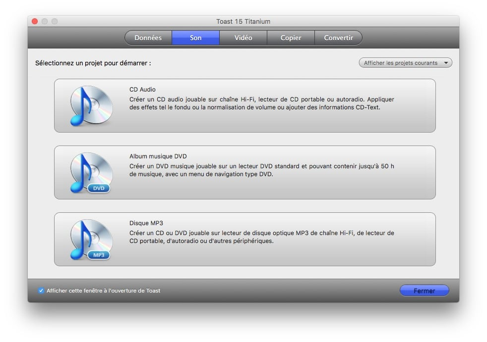 Graver sur macOS Sierra audio