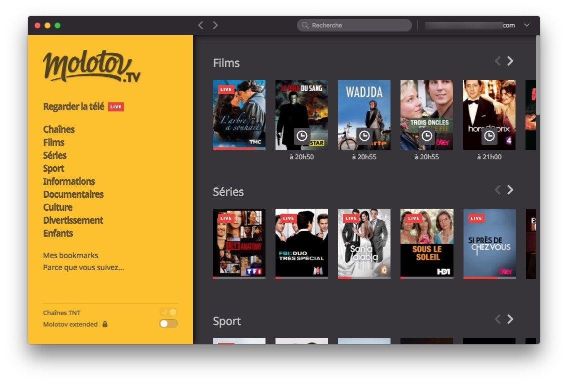 Regarder la TV sur Mac en direct