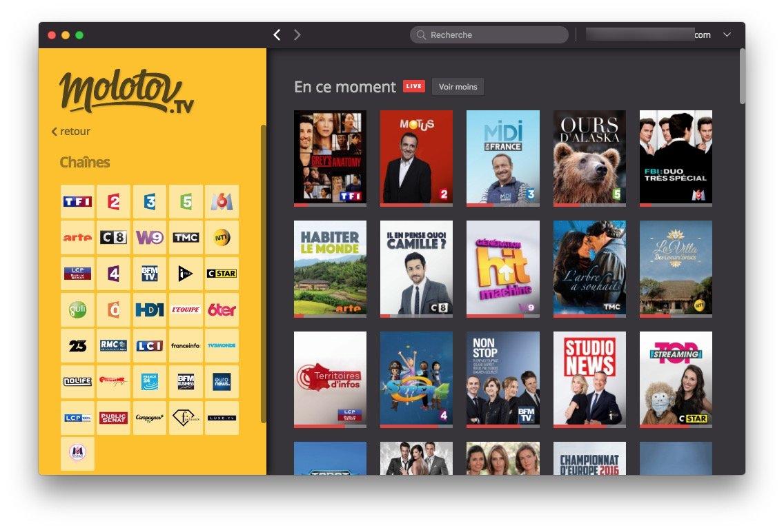 Regarder la TV sur Mac tf1 m6