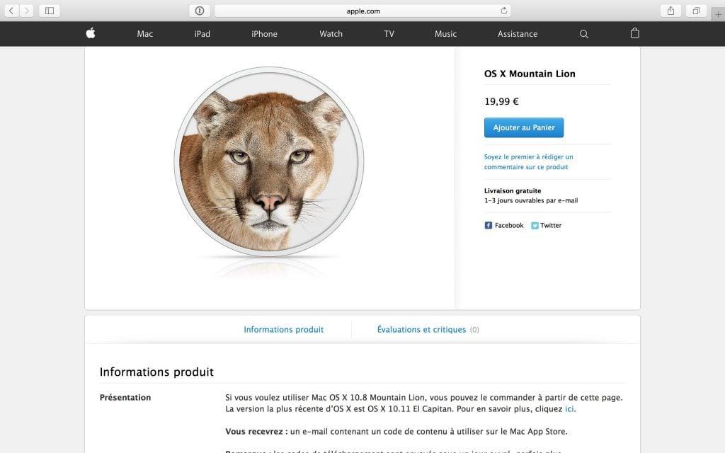 Trouver les anciens Mac OS X