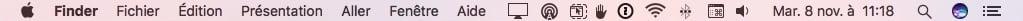 clavier virtuel macOS Sierra barre de menus