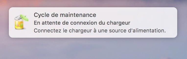 Entretenir la batterie de son MacBook connexion du chargeur