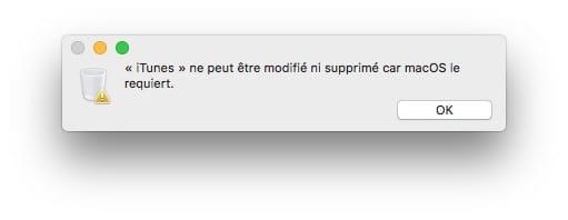 Supprimer les apps par defaut sur Mac OS impossible