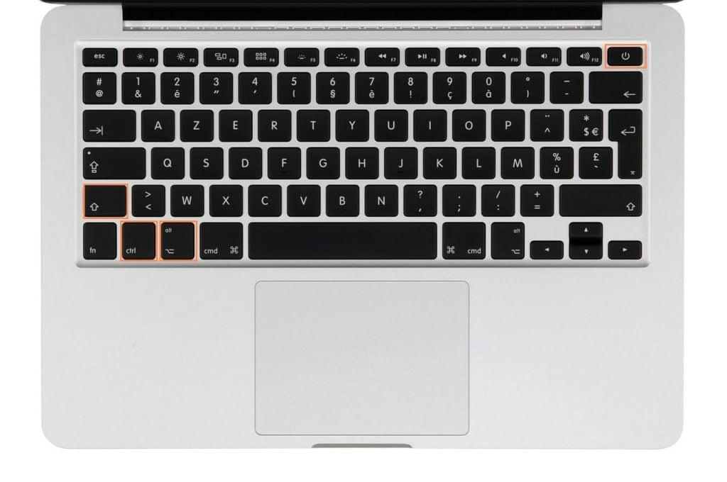 reinitialiser le smc macbook