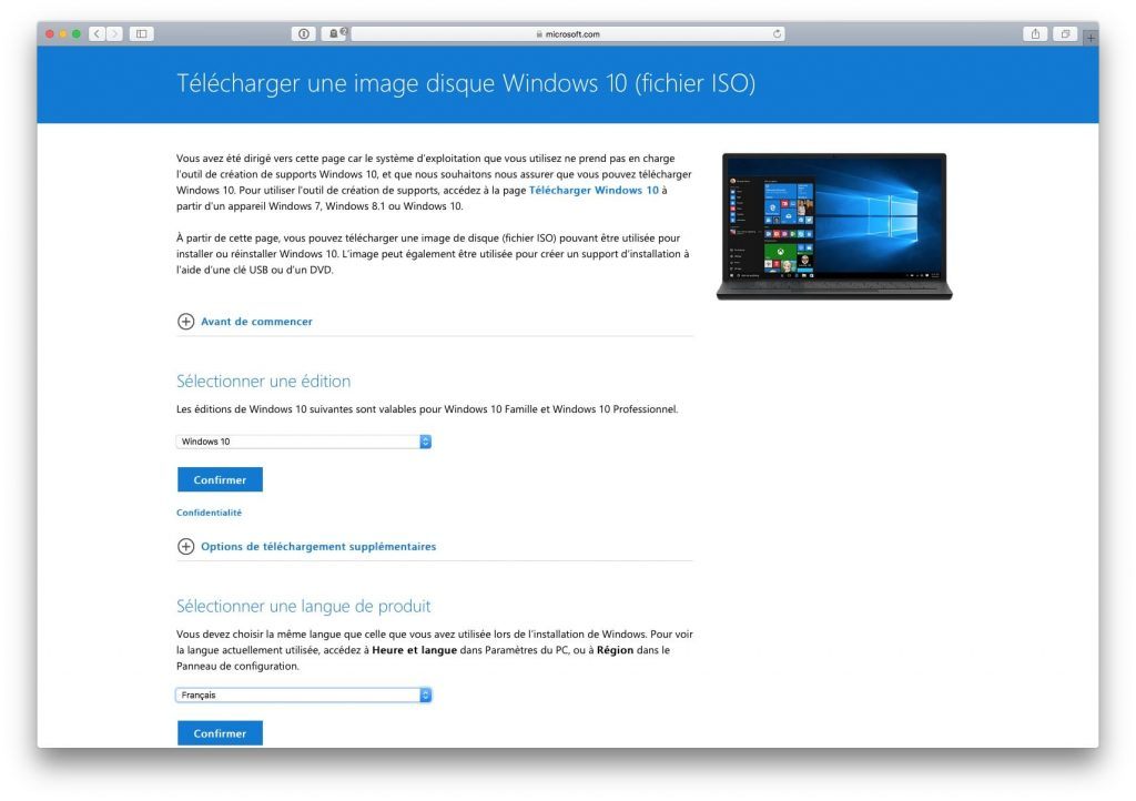 telecharger gratuitement windows 10 francais