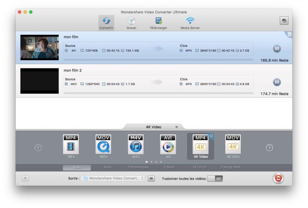 Encoder une vidéo sur Mac encoder une video en 4k sur mac