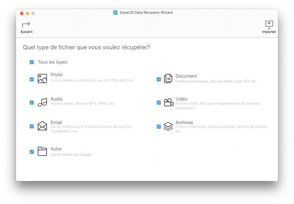 Restaurer des fichiers effaces sur Mac photo audio email video