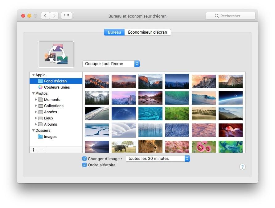 Changer automatiquement le fond d'écran Mac aleatoirement