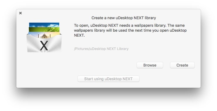 udesktop next library configuration