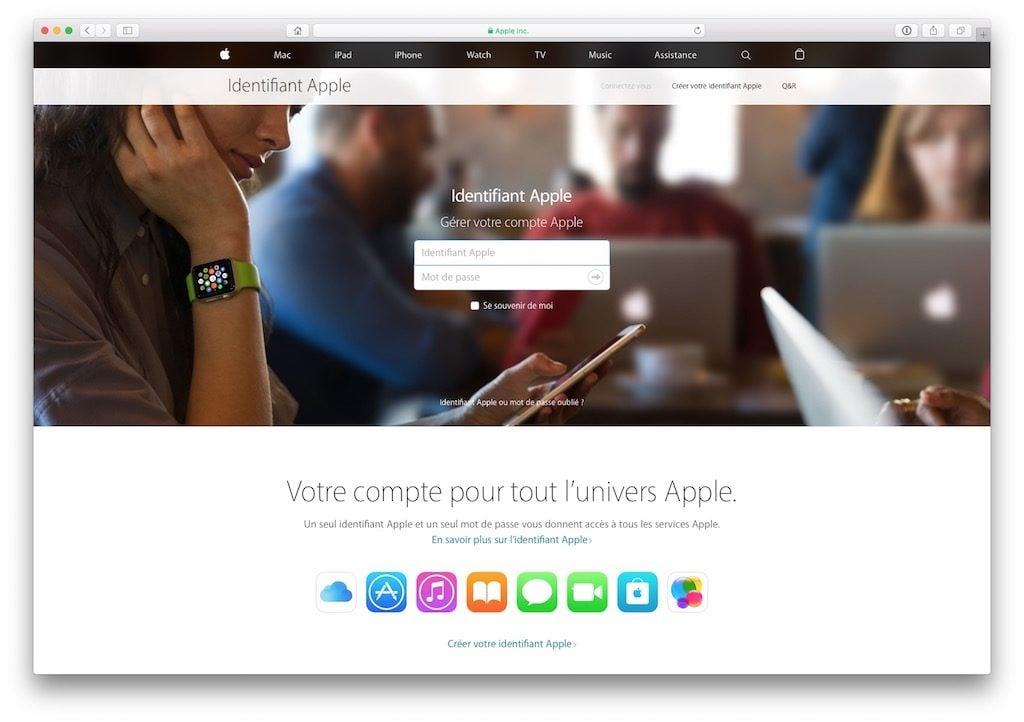 identifiant apple gestion