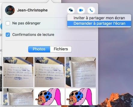 controler un mac a distance demander a partager ecran
