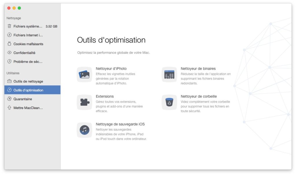outils optimisation mac macbook