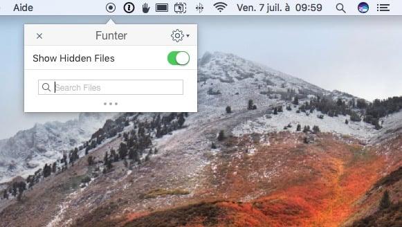 Afficher les fichiers caches macOS High Sierra avec Funter