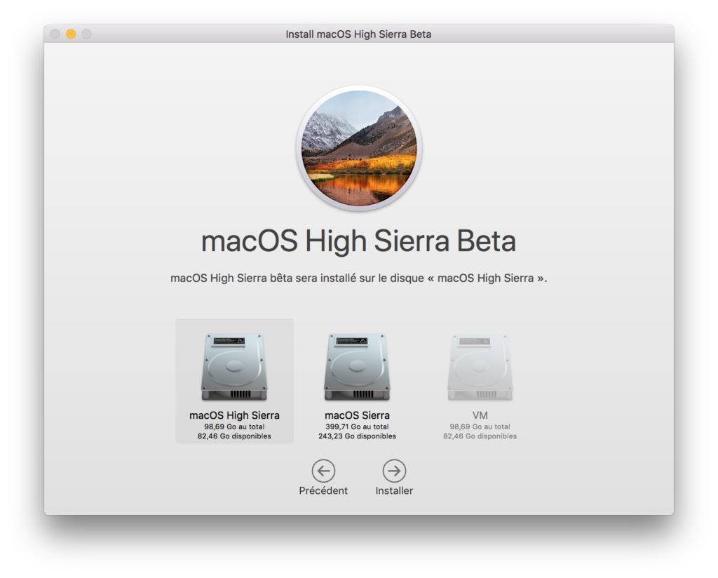 Installation macOS High Sierra dual boot
