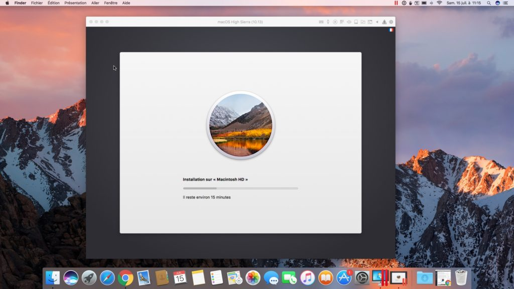 Installer macOS High Sierra avec Parallels Desktop macintosh hd