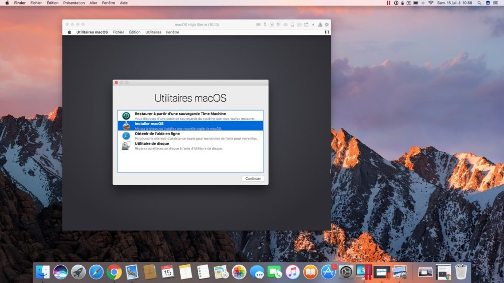 installer macOS High Sierra avec Parallels Desktop installer macos