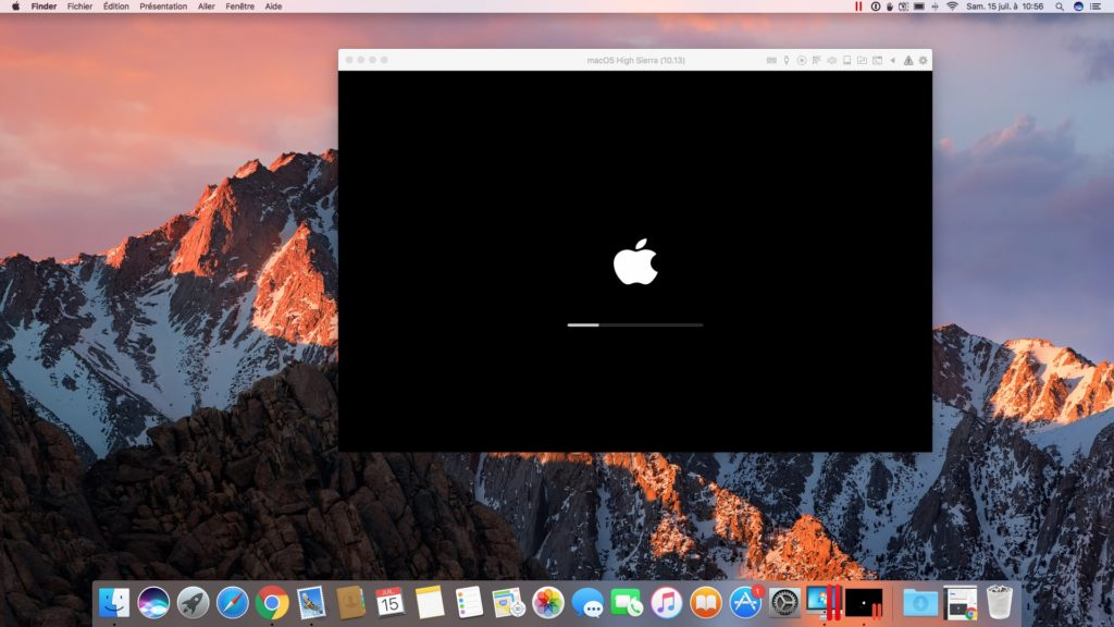 installer macOS High Sierra avec Parallels Desktop logo apple