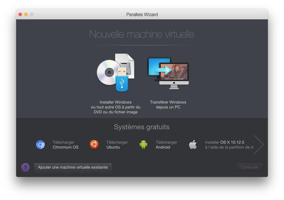 Installer macOS High Sierra avec Parallels Desktop machine virtuelle macos high sierra
