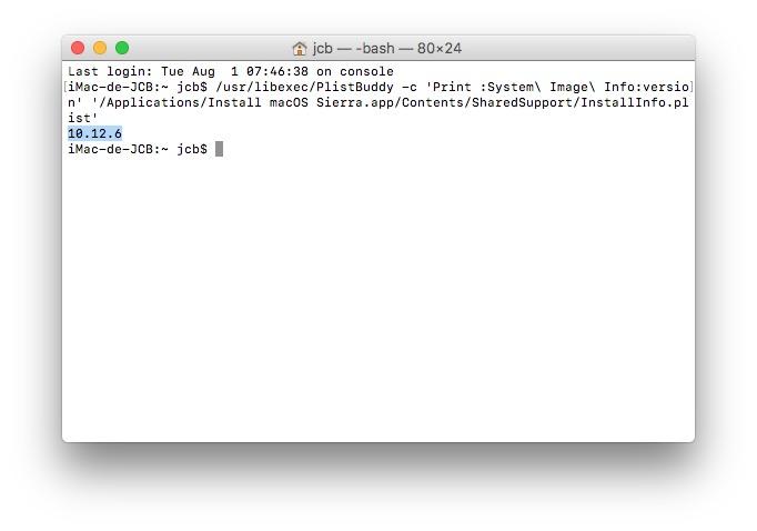 Trouver le numero de version de son Mac avec le terminal