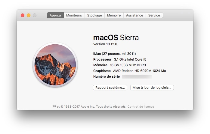 Trouver le numero de version de son Mac precisement