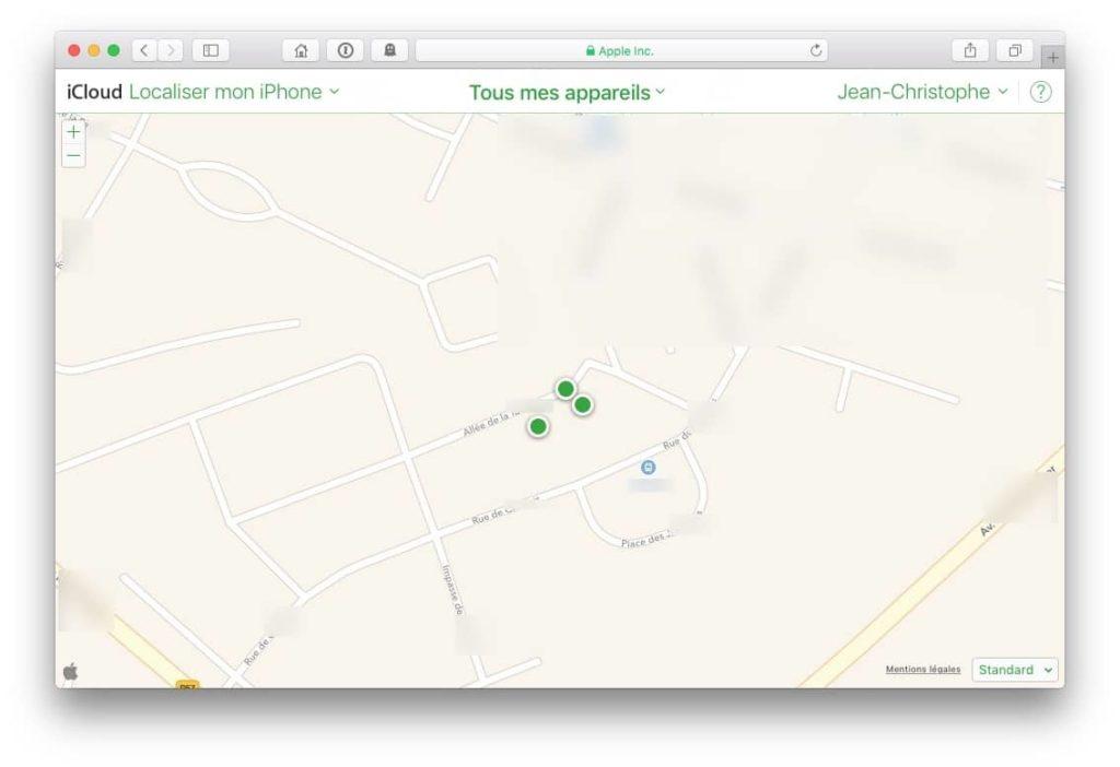 Localiser mon Mac iphone