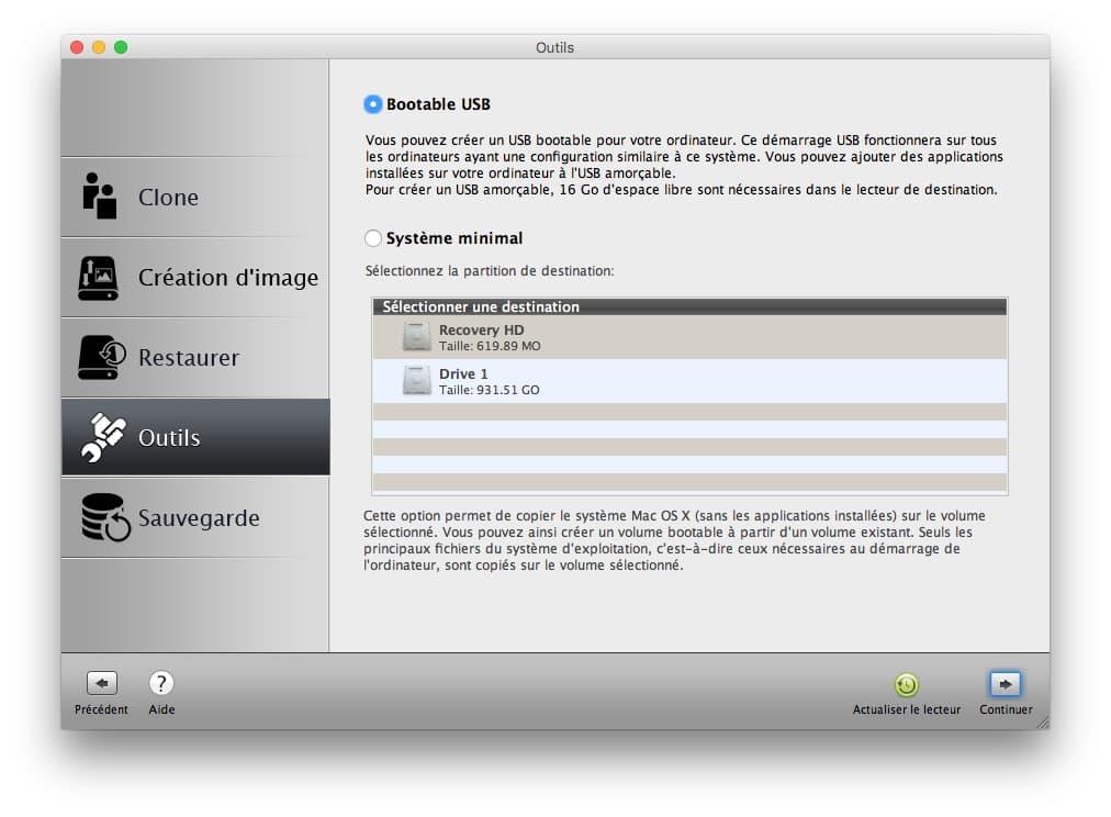 cle bootable usb pour clone disque mac
