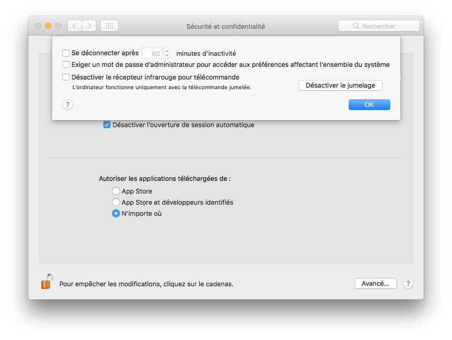 desactiver jumelage apple tv mac