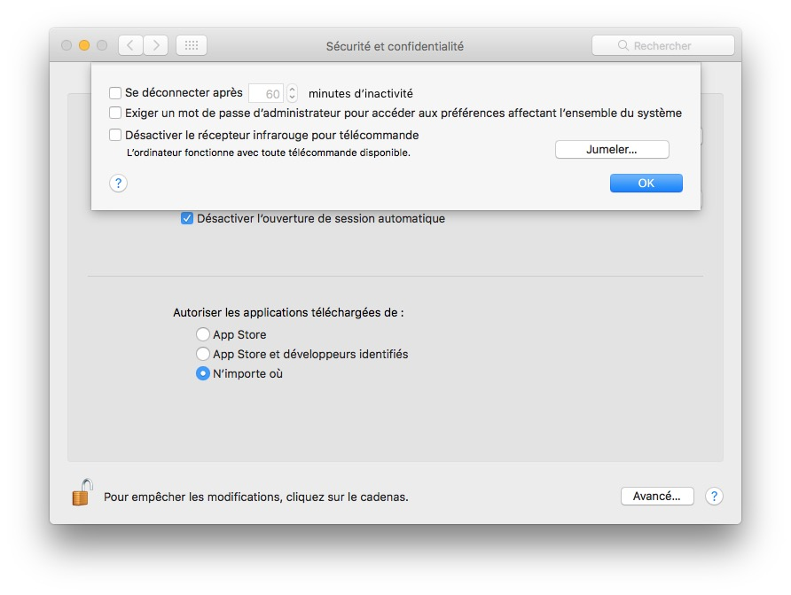 jumeler telecommande apple au macbook
