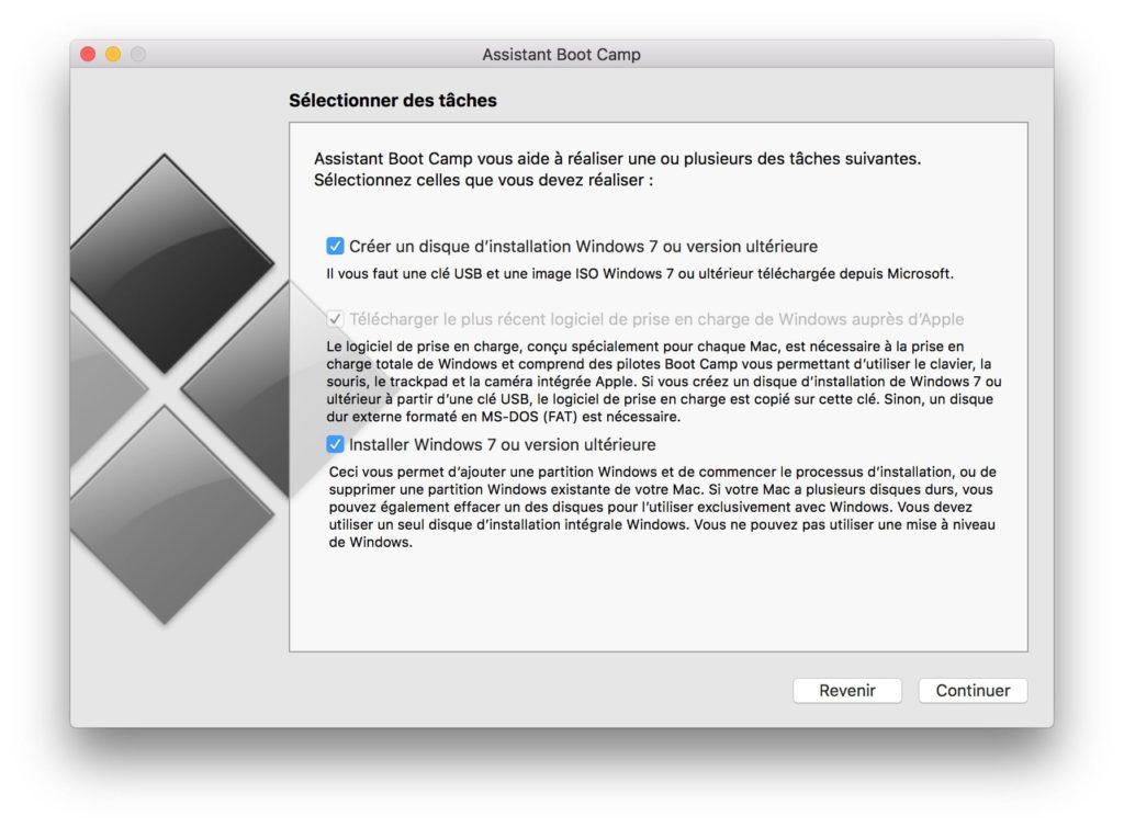 Dual boot macOS High Sierra Windows 10 disque installation
