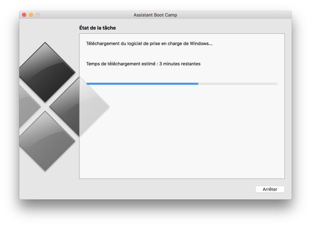 Dual boot macOS High Sierra Windows 10 telechargement logiciel de prise en charge