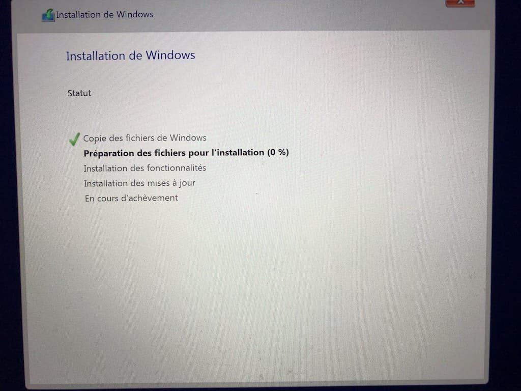 installation de windows 10 sur macos