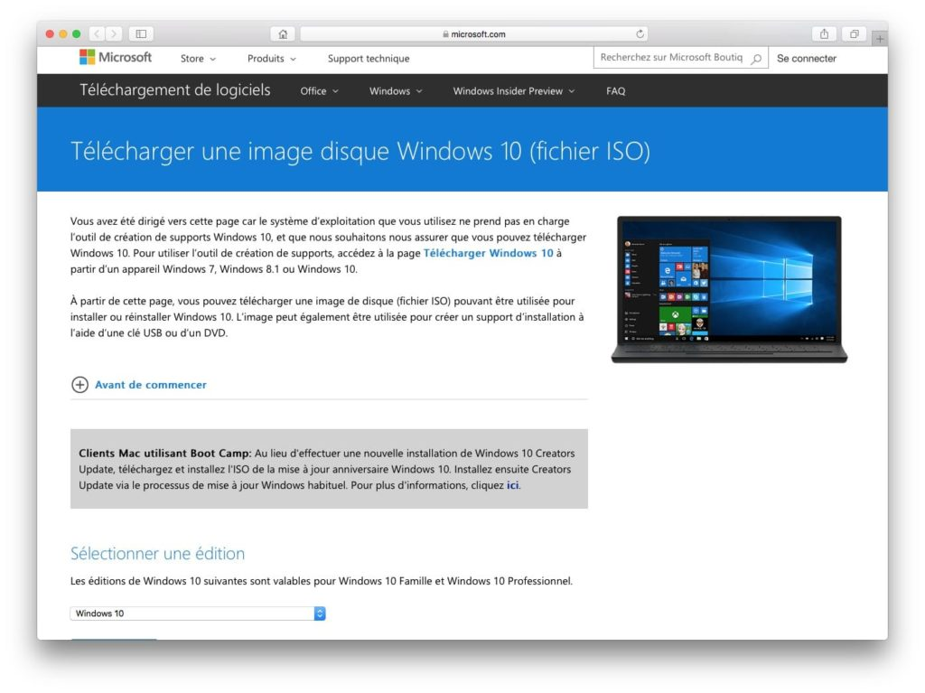 Dual boot macOS High Sierra Windows 10 - telecharger windows 10 pour mac