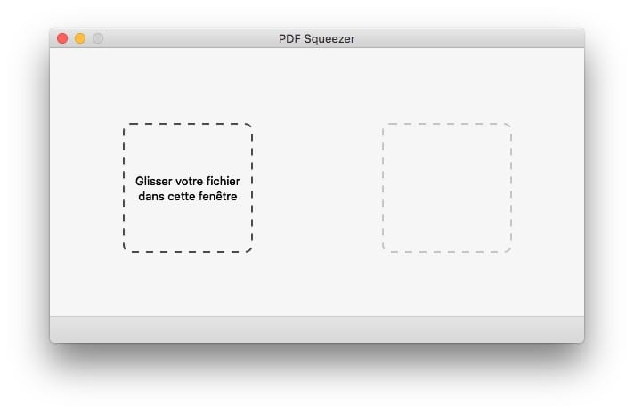 Compresser un fichier PDF sur Mac pdf squeezer