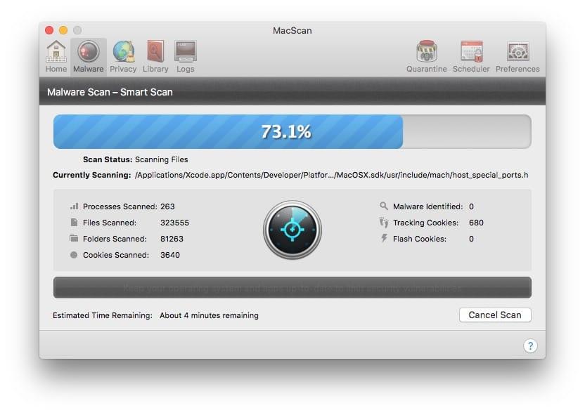 Detecter les malwares sur Mac MacBook