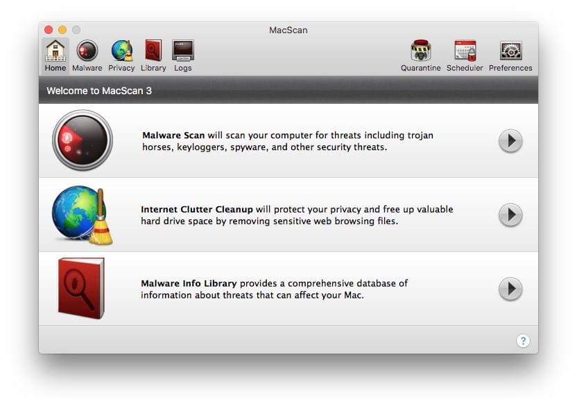 Detecter les malwares sur Mac avec macscan