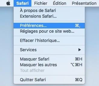 Gerer les mots de passe Safari Mac preferences