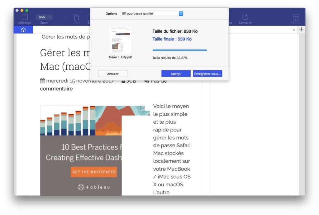 compresser un fichier PDF sur Mac pdfelement pro