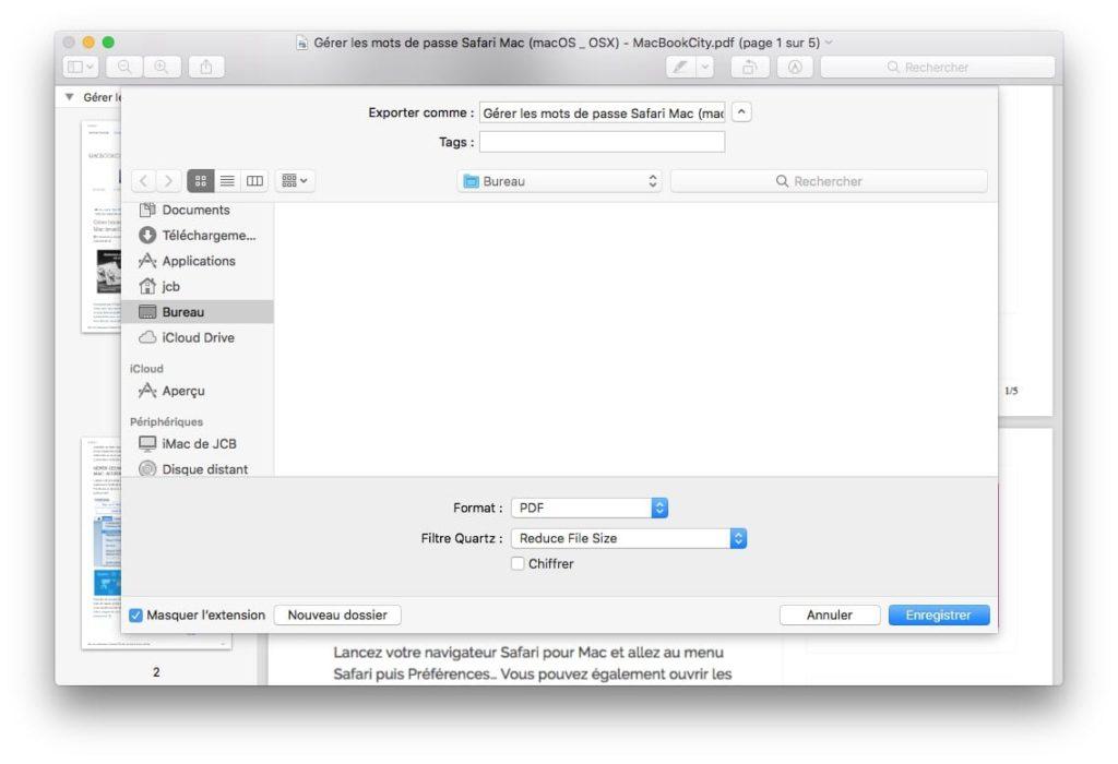 compresser un fichier PDF sur Mac reduce file size