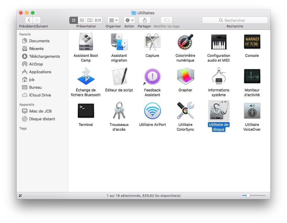 formater une cl usb sur mac pour l 39 utiliser sous macos. Black Bedroom Furniture Sets. Home Design Ideas