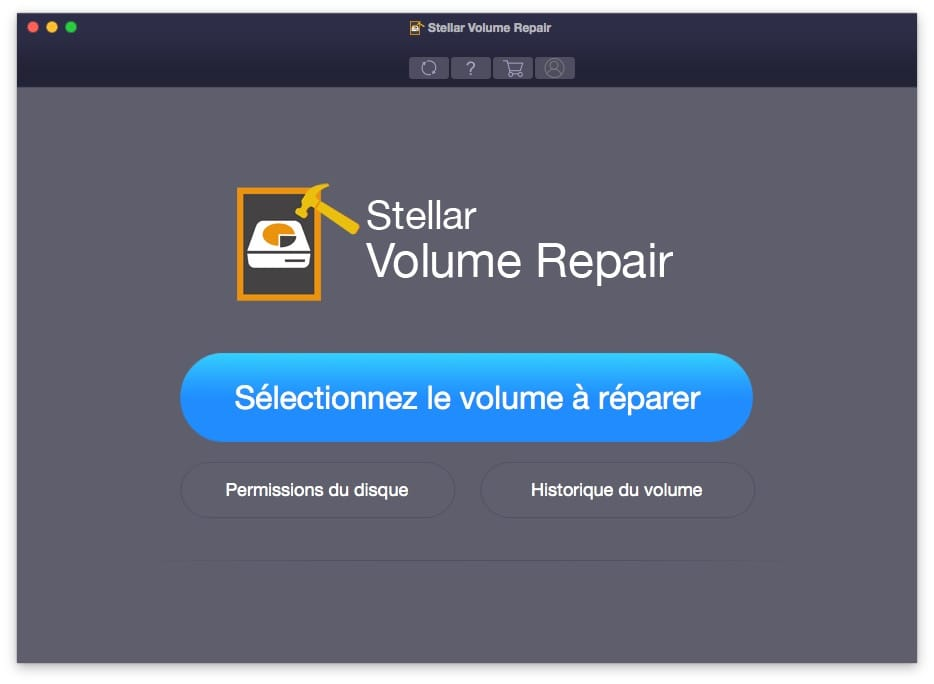 reparer un disque sur mac stellar volume repair