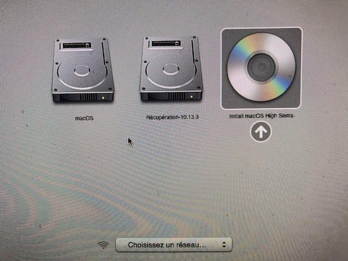 Graver macOS High Sierra sur un DVD bootable