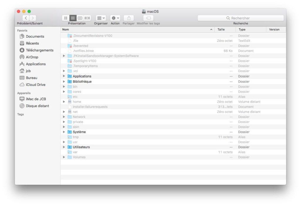 afficher les fichiers caches macOS avec un raccourci clavier shortcut