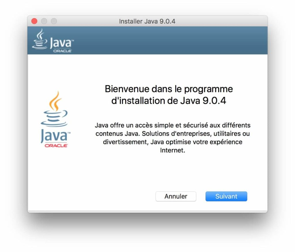 installation java 9.x macos high sierra