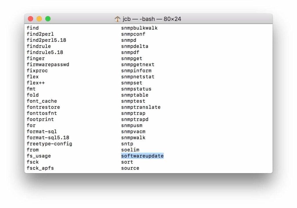 Mettre à jour son Mac avec le Terminal softwareupdate