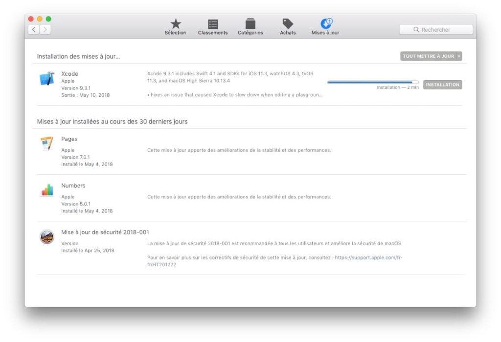 Mettre automatiquement ses apps a jour sur Mac depuis App Store installation mises a jour